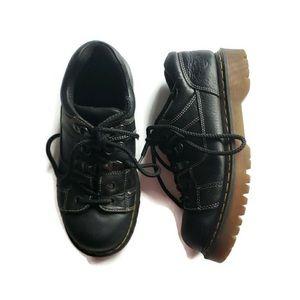 Doc Marten black air wair leather low lace shoe 13